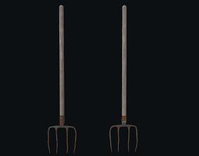 Pitchfork 3D asset