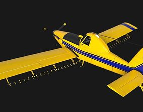 3D model animated Low Poly PBR Crop Duster