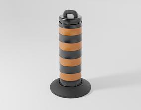3D model game-ready Traffic Barrel 2