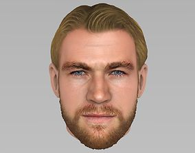3D model actor Thor Chris Hemsworth Avengers