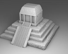 Large temple of Maya 3D print model