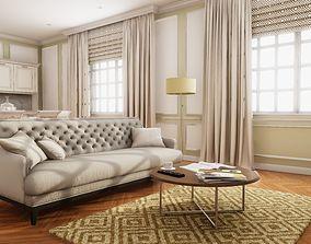 3D asset HQ Modern Classic Interior
