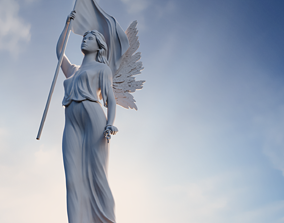 Liberty Angel Statuette 3D print model