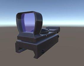 Red Dot Sight Scope 3D asset
