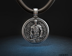 3D printable model pendant warrior Spartan
