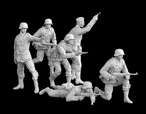 3D printable model German officer and German soldiers
