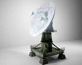 The old radar antenna 3D asset