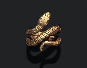 snake ring 3D print model detailed