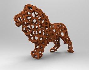 Voronoi Lion 3D print model