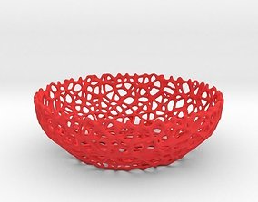 3D printable model Voronoi bowl or key shell - Style No 8