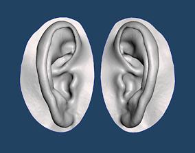 Natural human ear anatomy 04 3D printable model