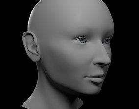 3D model HQ Female Head Basemesh