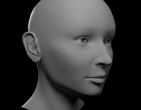 3D model HQ Female Head Basemesh