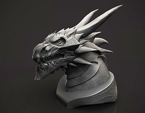 3D print model Dragon Bust reptile