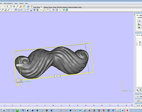 mustache 3D printable model