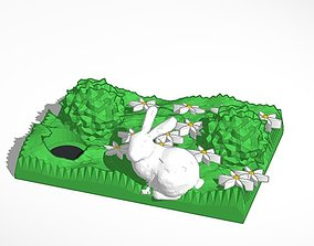 spring bunny and hole 3D printable model