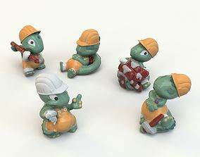 Kinder Surprise dino toy collection 3D model