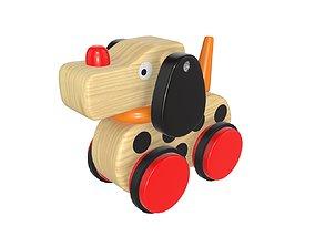 Dog wooden 3D