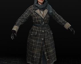 Realistic female fashion 3D model