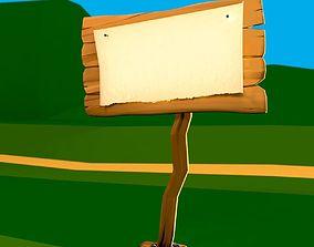 3D model Wooden Signpost