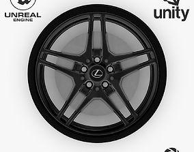 Wheel Steel-Chrome Dark Alloy Rim 3D model 4