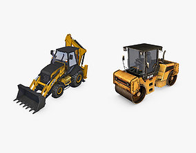 Heavy Construction Machinery Equipment Industrial 3D model