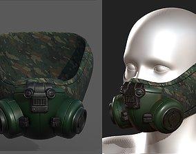 3D asset Gas mask helmet scifi fantasy armor hats 1