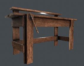 3D asset LowPoly WorkBench