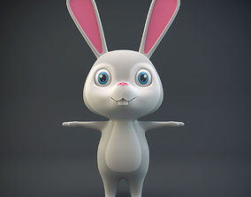 mammal 3D model Cartoon Rabbit