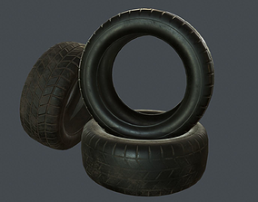 3D asset Rubber Tire PBR Game Ready