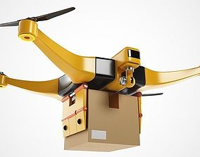 Package Delivery Drone 3D