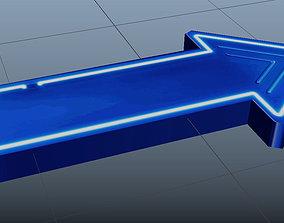 low-poly Arrow 3d MODEL FBX