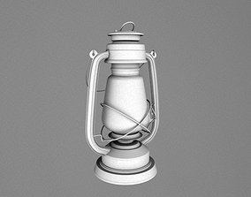 3D asset Village Lamp