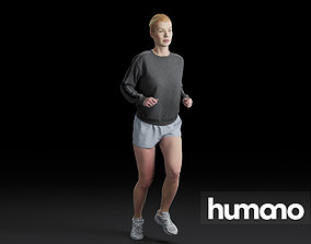 Humano Running Woman 0804 3D