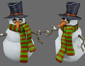 snowman 3D model traditional