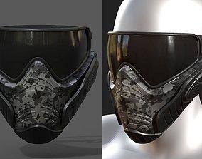 3D asset Mask helmet scifi futuristic military combat