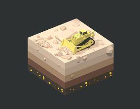 3D asset Low Poly Mining