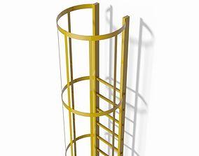 Safety cage ladder 3D