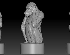 3D printable model 3d monkey