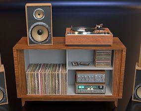 PBR Audio Equipment 3D asset