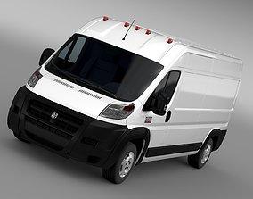 3D model Ram Promaster Cargo 3500 HR 159WB 2015