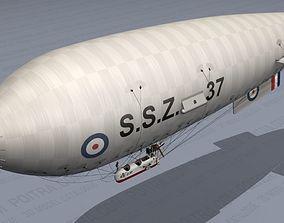 Airship - English Royal Naval Air Service SSZ 3D model 4