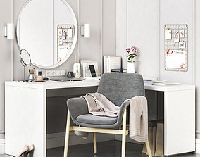MALM corner dressing table and workplace 3D