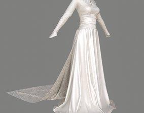 3D PBR wedding Wedding Dress