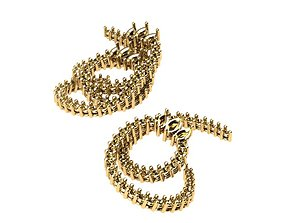 3D printable model helix earrings