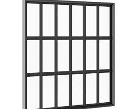 Black Metal Window 2820mm x 2820mm 3D model