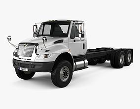 International Durastar 4400 SBA Chassis Truck 2011 3D