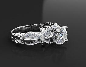 3D printable model diamond ring engagement04