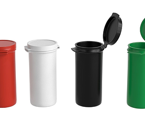 Plastic Hinged Lid Containers 3D asset