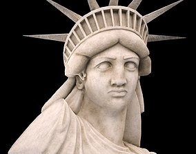 3D model realtime Statue of Liberty LowPoly
